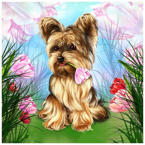 Diamond Painting-5D Full Round Drill Dog