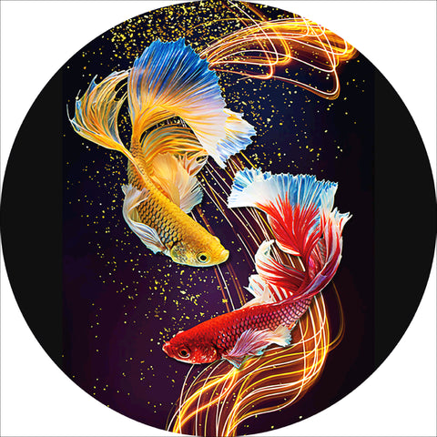 Diamond Painting-5D Full Drill Fish(40*40 cm)