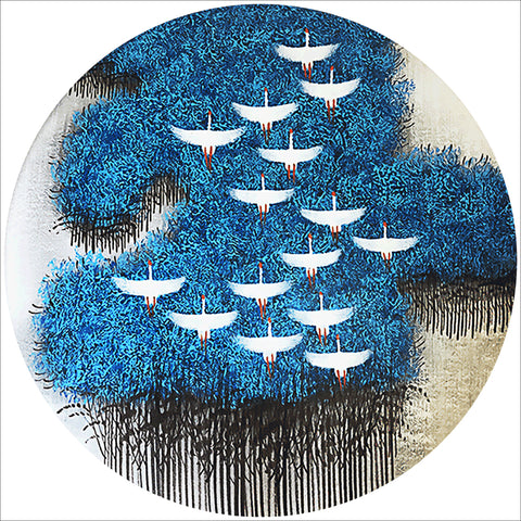 Diamond Painting-5D Full Drill Blue Forest(40*40 cm)