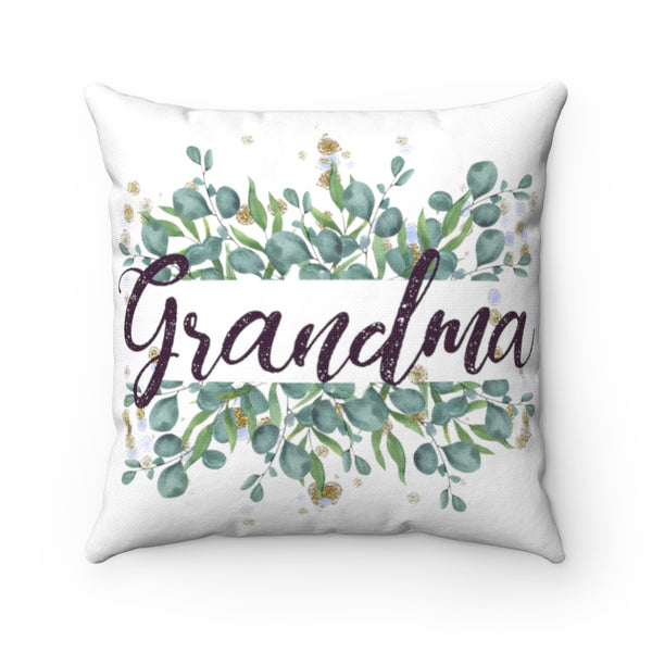Grandma Poem Collage Decorative Square Pillow Cover (No Insert)