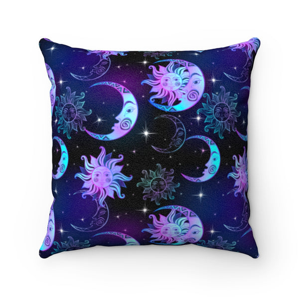 Celestial Night Faux Suede Decorative Pillow Cover (No Insert)