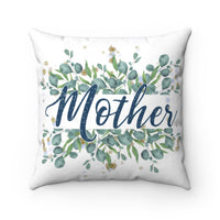 Mother Poem Decorative Square Pillow Cover (No Insert)
