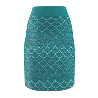 Women's All Over Print Pencil Skirt
