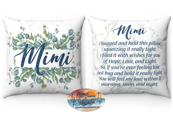 Mimi Poem Decorative Square Pillow Cover (No Insert)