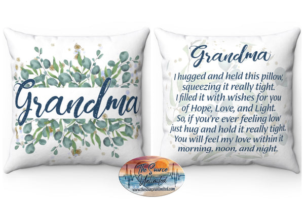 Grandma Poem Decorative Square Pillow Cover (No Insert)