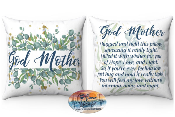 God Mother Poem Decorative Square Pillow Cover (No Insert)