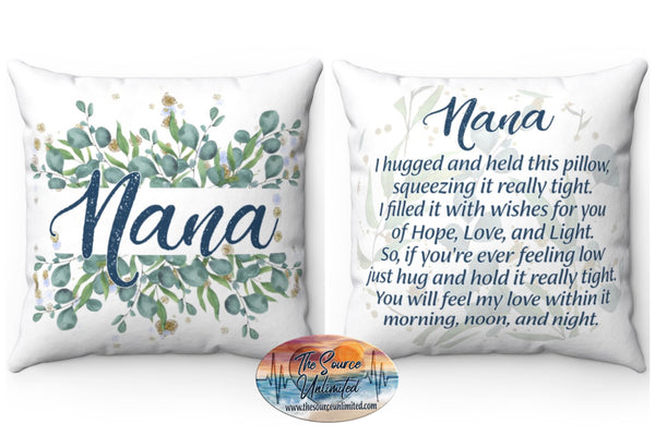 Nana Poem Decorative Square Pillow Cover (No Insert)