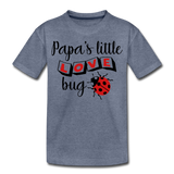 Papa's Little Love Bug Toddler Premium T-Shirt - heather blue