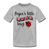 Papa's Little Love Bug Toddler Premium T-Shirt - heather gray