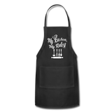 My Kitchen My Rules Adjustable Apron - black