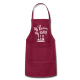 My Kitchen My Rules Adjustable Apron - burgundy