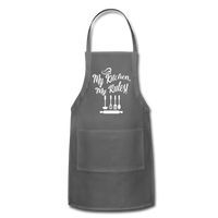My Kitchen My Rules Adjustable Apron - charcoal