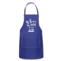 My Kitchen My Rules Adjustable Apron - royal blue