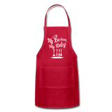 My Kitchen My Rules Adjustable Apron - red