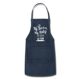 My Kitchen My Rules Adjustable Apron - navy