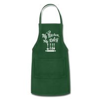 My Kitchen My Rules Adjustable Apron - forest green