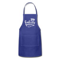 Baking Queen Adjustable Apron - royal blue
