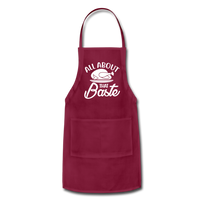 All About That Baste Adjustable Apron - burgundy