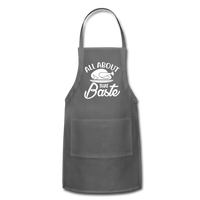 All About That Baste Adjustable Apron - charcoal