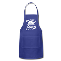 All About That Baste Adjustable Apron - royal blue