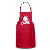 All About That Baste Adjustable Apron - red
