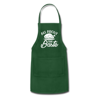 All About That Baste Adjustable Apron - forest green
