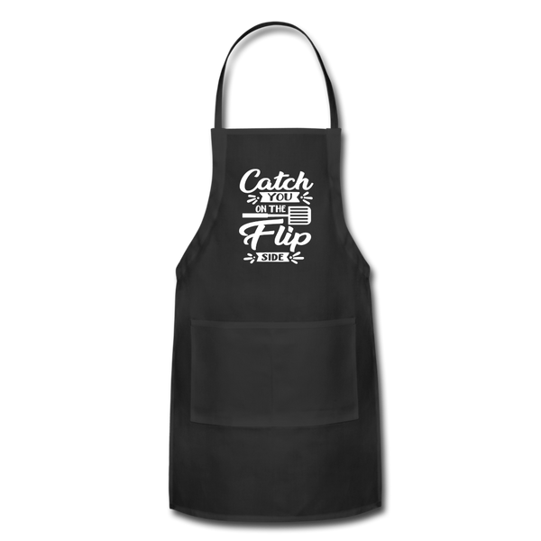 Catch you On The Flip Side Adjustable Apron - black