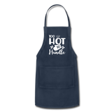 Too Hot To Handle Adjustable Apron - navy