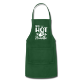 Too Hot To Handle Adjustable Apron - forest green