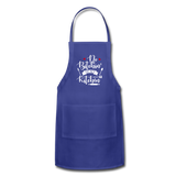 No Bitchin' In My Kitchen Adjustable Apron - royal blue