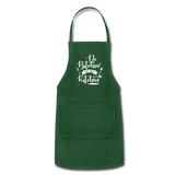 No Bitchin' In My Kitchen Adjustable Apron - forest green