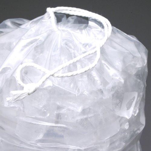 10 lb. Heavy Plastic Ice Bags with Drawstrings Case (500 bags/case)