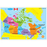 CANADIAN MAP LEARNING MAT 2 SIDED