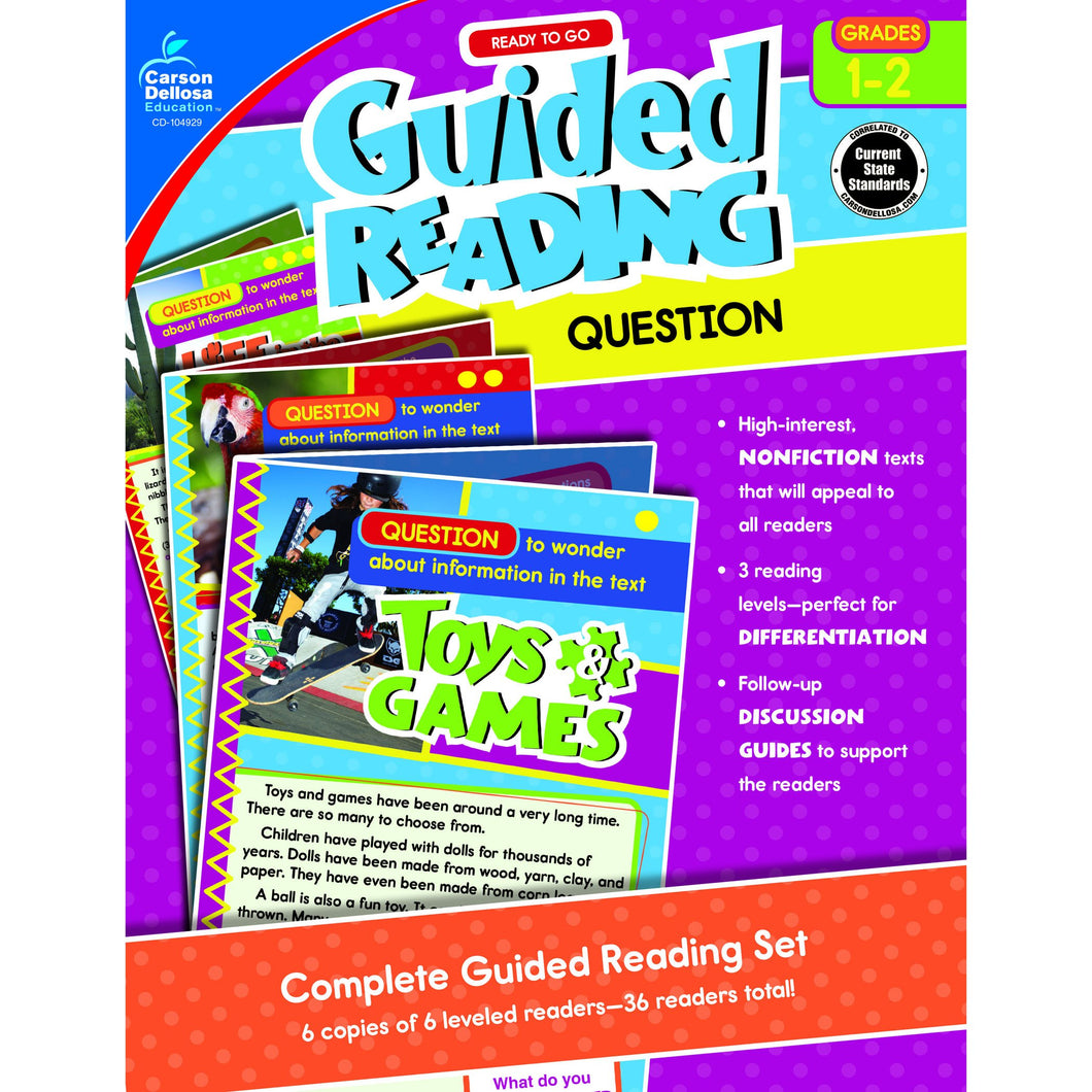 Guided Reading: Question Resource Book, Grade 1-2