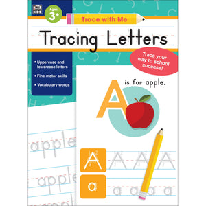 Tracing Letters Activity Book, Grade Toddler-K