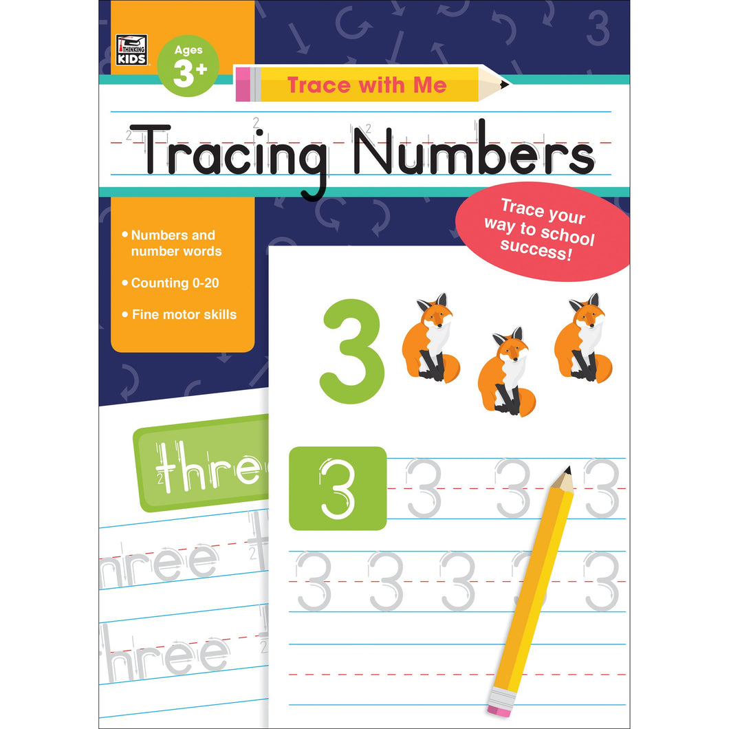 Tracing Numbers Activity Book Grade, Toddler-K