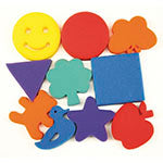 PAINT SPONGES FAMILIAR SHAPES 10PCS