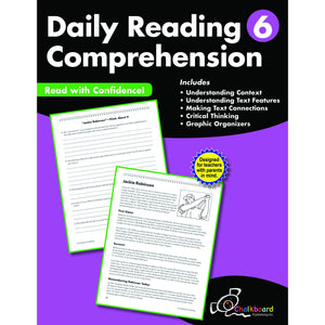 Daily Reading Comprehension Workbook, Grade 6