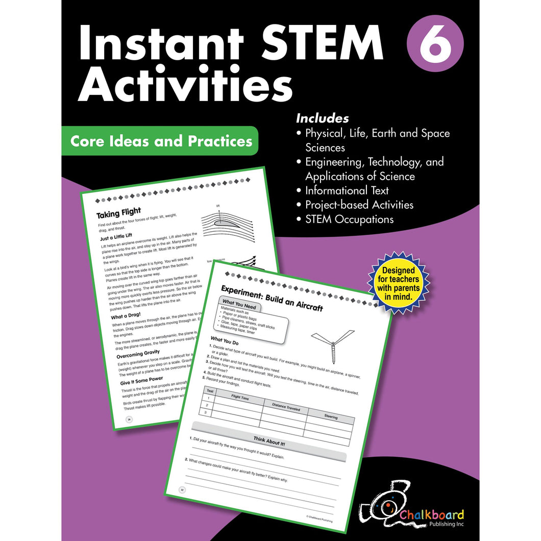 STEM Instant Activities Workbook, Grade 6