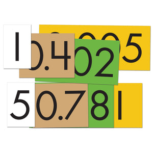 4-Value Decimals to Whole Number Place Value Cards Set