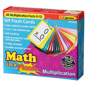 Math in a Flash™ Color-Coded Multiplication Flash Cards, 169 Cards