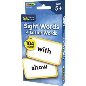 Sight Words - 4 Letters Words Flash Cards