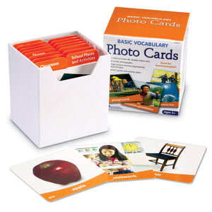 Basic Vocabulary Photo Card Set, 156/pkg
