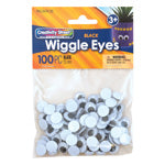 WIGGLE EYES BLACK 15 MM 100 PIECES