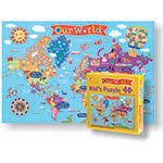 WORLD JIGSAW  PUZZLE FOR KIDS