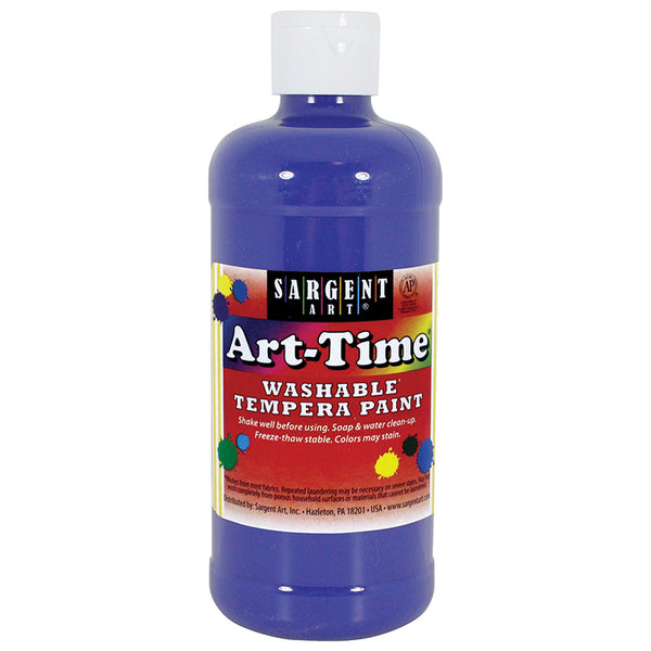 BLUE ART-TIME WASHABLE PAINT 16 OZ