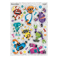 BOTS & BOLTS SPARKLE STICKERS 16 CT