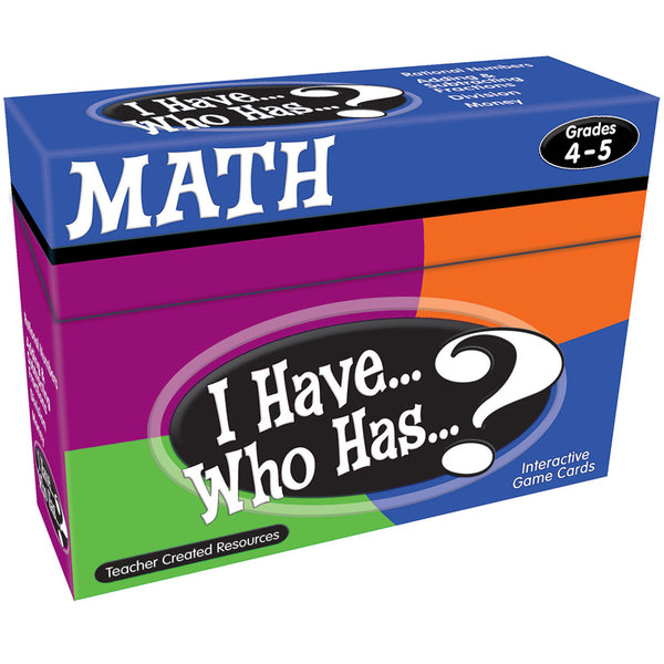 I HAVE WHO HAS MATH GR 4-5