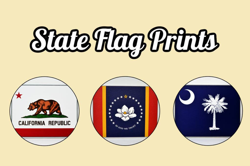 Home State Flag Canvas Prints