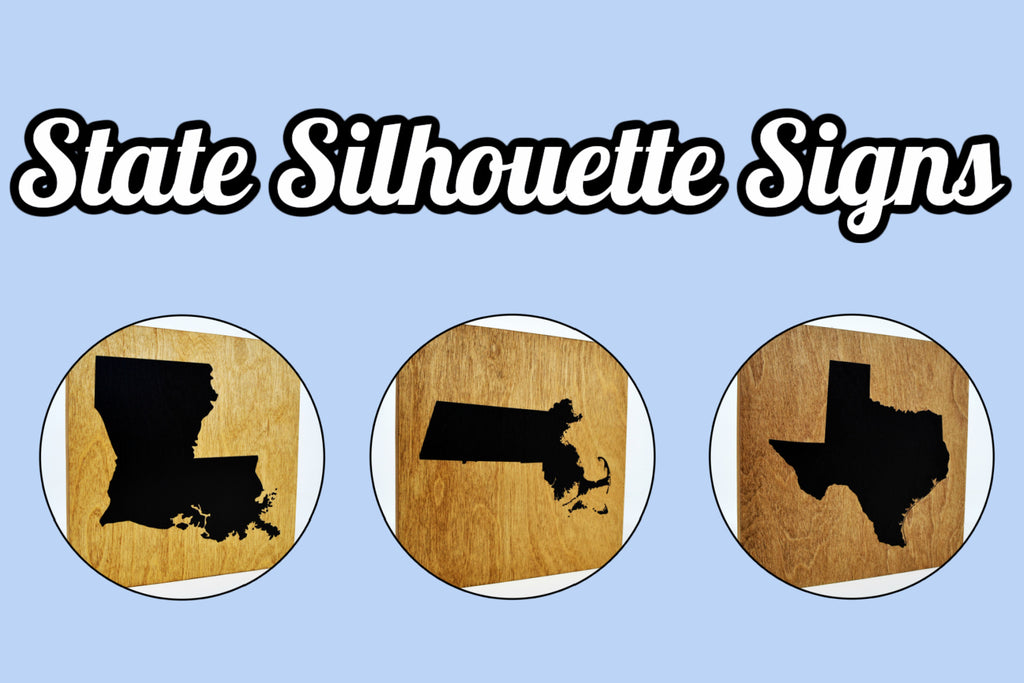 Home State Wooden Signs